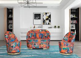 casa padrino designer deco living room 2 seater sofa multicolor gold 105 x 52 x h 80 cm living room furniture deco furniture