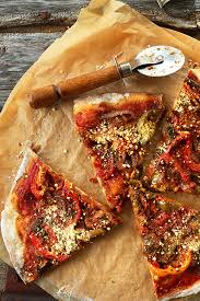 THEE BEST Vegan Pizza Sauteed Veggies Simple Tomato Sauce Loads Of Parmesan