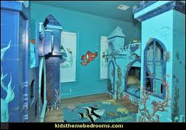 little mermaid underwater theme bedroom theme bed under the sea