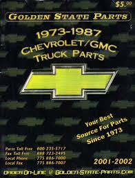 100 Chevy Truck Parts Catalog Free Golden State 19731987 ChevroletGMC