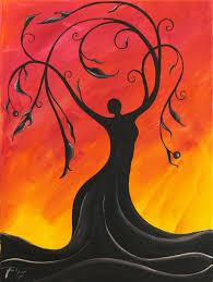 Spirit Halloween Almaden San Jose whimsical tree goddess painting with jane font pinterest