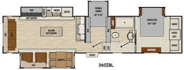 Lovely Decoration Fifth Wheels With Two Bedrooms Floor Plan