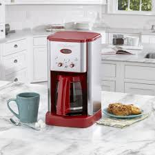 Cuisinart Brew Central 12 Cup Programmable Stainless Steel Coffeemaker Red
