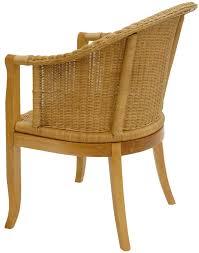 esszimmer rattanstuhl mit lehnen in honig