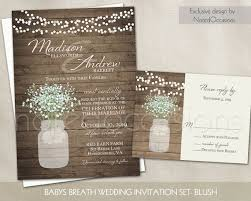 Rustic Wedding Invitation Printable Mason Jar By NotedOccasions Country Invitations Suite