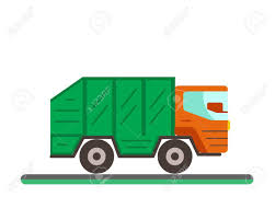 100 Waste Management Garbage Truck Illustration Disposal Flat Concept With