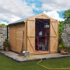 10 x 7 windowless pressure treated tongue and groove pent shed