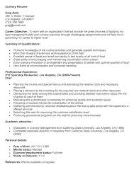 Professional Pastry Chef Resume Culinary Template Example Templates Entry Level With