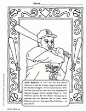 BIOGRAPHY Jackie Robinson Coloring Page