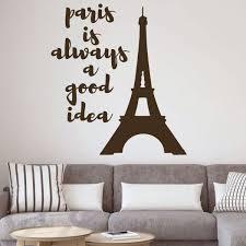 Amazoncom Eiffel Tower Wall Decal Paris Is Always A Good