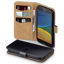 100 G5 Interior Motorola Moto PU Leather Wallet Case With Suede