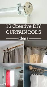 No Drill Window Curtain Rod by Creative Diy Curtain Rods Ideas