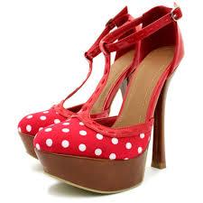 high heels shoes platform red