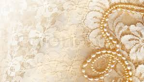 Stock Image Of Wedding Background With Cream Silky Decoration Accessories Lace And Pearls