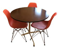 Herman Miller Eames Dining Set   Chairish Minimal Ding Rooms That Offer An Invigorating New Look New York Herman Miller Eames Chair Ding Room Modern With Ceiling Eatin Kitchen With Rustic Round Table Midcentury Chairs Hgtv Senarai Harga Ff 100cm Viera Solid Wood 4 Shop Vecelo Home Chair Sets Legs Set Of Eames Youtube Biefeld Besuchen Sie Pro Office Vor Ort Room Progress Antique Meets Stevie Storck Modern Fniture Uk Canada For Style By Stang 5pcs Tempered Glass Top And Pvc Leather Saarinen Design Within Reach Buy Midcentury Online At