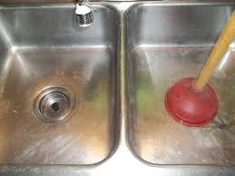 Drano Kitchen Sink Standing Water by How To Unclog A Double Kitchen Sink Drain Dengarden