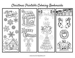 Page 1 Christmas Bookmarks To Color