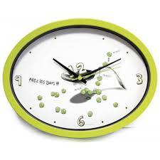 horloge de cuisine cuisine ludik verte