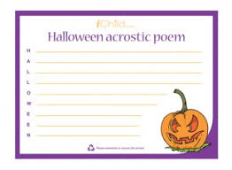 Poems About Halloween For Kindergarten by This Printable Acrostic Poem Template Can Be Used To Encourage
