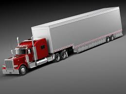100 Truck Sleeper Cab Peterbilt 389 Trailer 2015 3D Model