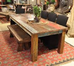 Inspiration For A Large Rustic Kitchen Dining Room Combo Remodel In New York