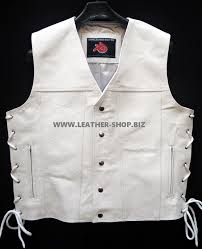 leather vest western style mlv88 4 inside pockets for sale