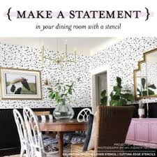 Make A Statement In Your Dining Room With Stencil
