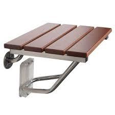 wand montage klapp dusch sitz bad bank holz edelstahl dusch stuhl für behinderte