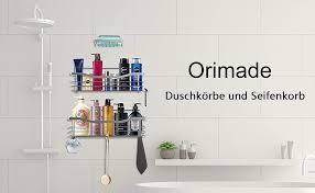 orimade duschkörbe ablagen wandablage badezimmer seifenkorb
