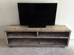 Solid Reclaimed Wood Media Entertainment Tv Console Unit Stand