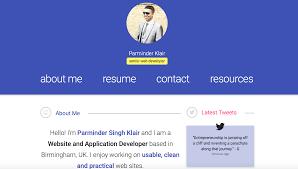 Material Design Portfolio Website By Parminder Singh Klair
