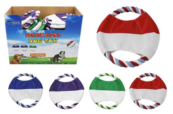 DD Dog Toy - Rope Disc - Case of 36