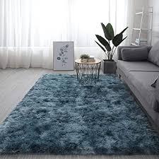 moderner teppich mit weicher dekoration für schlafzimmer wohnzimmer kinderzimmer boden flauschiger zottelteppich flauschiger shaggy teppich