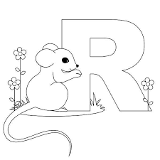 Rat Is For Learn Letter R Coloring Page