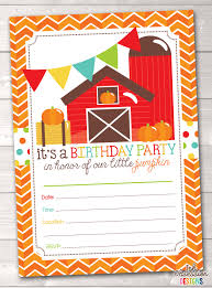 Central Illinois Pumpkin Patches by Pumpkin Party Printable Birthday Party Invitations Fill In The