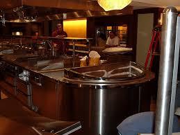 Elegant Minimalist Decor Restaurant Interior Design Of Oyster At Harrahs Las Vegas Open Kitchen