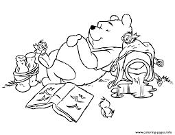 Lazy Winnie The Pooh Sb6d1 Coloring Pages