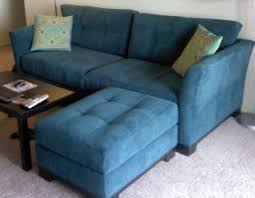 Macys Elliot Sofa by Blue Microfiber Couch Aftersock