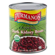 Furmanos 10 Can Organic Dark Kidney Beans In Brine