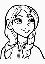 Beautiful Anna Free Coloring Page O Disney Frozen Kids Coloring