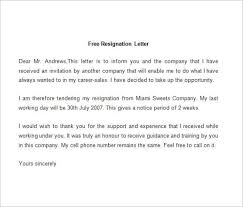 Sample pany Resignation Letter