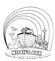 Coloring Download Noahs Ark Page Noah Rainbow Pages Sketch Template