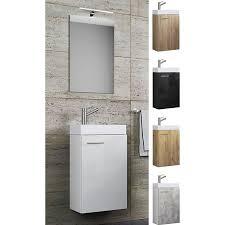 vcm waschplatz waschbecken schrank spiegel wc gäste toilette badmöbel klein schmal slito spiegel