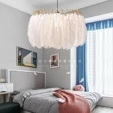 moderna feder kronleuchter warme romantische nordic beleuchtung wohnzimmer schlafzimmer kreative ins net rot mädchen feder lightin freies schiff