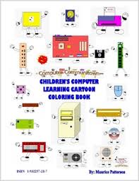 Childrens Computer Learning Cartoon Coloring Book