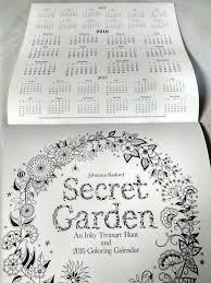 Available Now At Periplus Bookstores 2016 Coloring Calendar Secret Garden