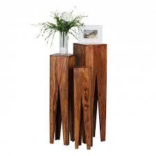 wohnling beistelltisch 3er set kada massivholz sheesham wohnzimmer tisch design sã ulen landhausstil couchtisch quadratisch