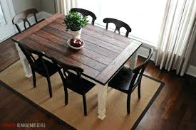 Building A Farmhouse Table Dining Free Plans Diy With Leaf