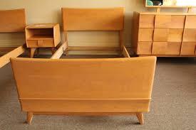 Heywood Wakefield Dresser With Mirror by Heywood Wakefield Twin Kohinoor Bedroom Suite U2013 Metro Eclectic