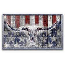 Rustic American Flag Prints With Framing Option